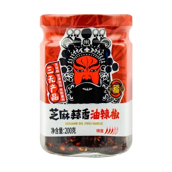 黔福记 芝麻蒜香油辣椒 200g