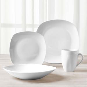 Tabletops Unlimited 白瓷餐具16件套 2款可选