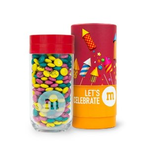Personalizable M&M'S Gift Jar in Let's Celebrate Gift Tube | M&M'S - mms.com