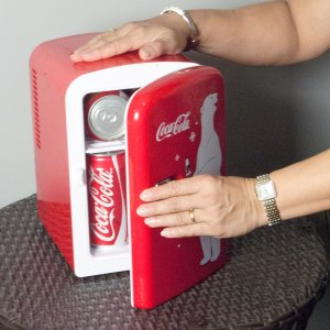 Coca-ColaPersonal 6 Can Portable Mini Fridge with Warming, Red