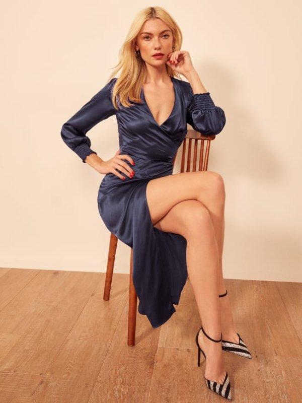 丝质连衣裙