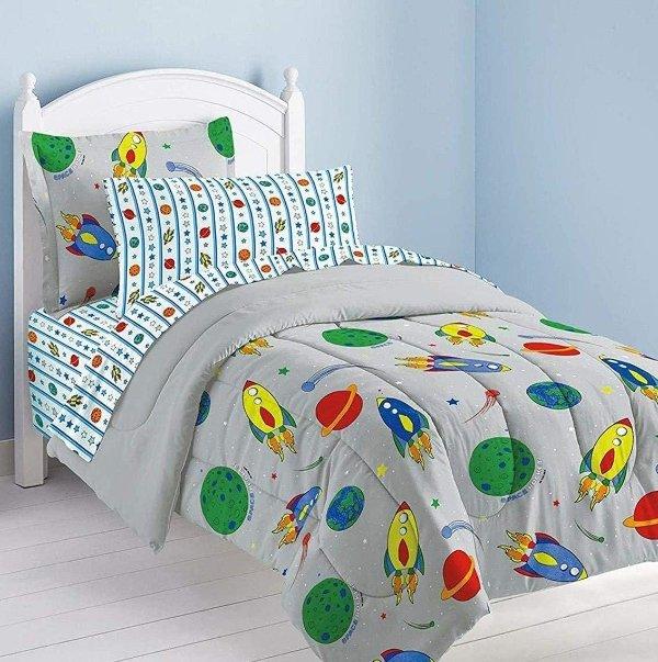 Dream Factory 儿童床上用品5件套 适用 Twin Size 床