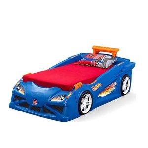 $295(原价$349.99)史低价:Step2 带闪灯的汽车造型儿童床,可搭配Hot Wheels小车玩具