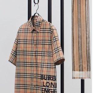 低至4折 经典格纹衬衫$200巴宝莉官网 冬季大促降价 免费礼品包装送人超合适