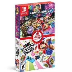 《马里奥赛车8 + 马里奥派对》Nintendo Switch 实体版合集
