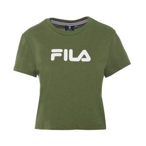 FilaWomen's Crop Set Tee / T-Shirt / Tshirt - Olive Green