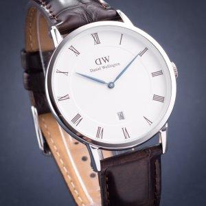 6.7折 $198.54(原价$295)手慢无:Daniel Wellington DW00100089 38mm 棕色皮革手表
