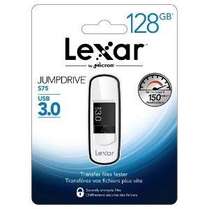 一个$14.79 两个$27.49 三个$40.49Lexar JumpDrive S75 系列 USB 3.0闪存盘 128GB