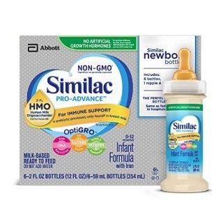 低至$37.79/48瓶Similac 非转基因婴儿液体奶特卖,2盎司/瓶,共48瓶