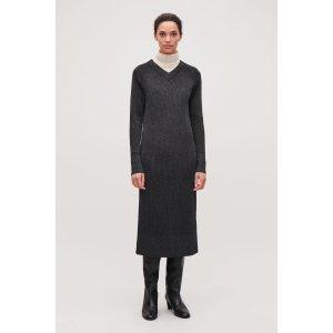 COSMIX-RIB KNITTED DRESS