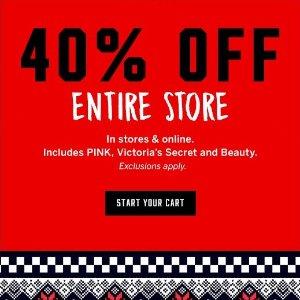 40% offSitewide @Victoria's Secret