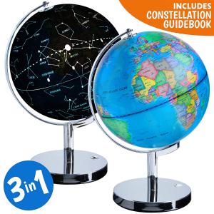 $48.83(原价$79.99)USA Toyz 三合一功能地球星空仪夜灯
