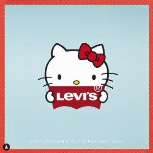 £20收T恤 男女都可 自定义图案Levi's × Hello Kitty 再度联名惊喜上线 收了这只萌萌小猫咪