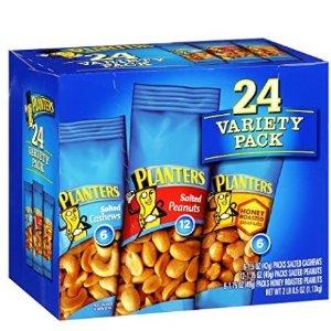$7.58 免邮 销量冠军Planters 花生腰果香脆综合果仁包 2磅装 共24小袋
