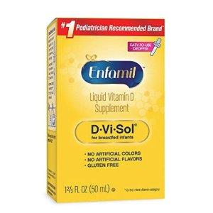 低至$6.65Enfamil 婴幼儿维生素补充剂50毫升,三款可选