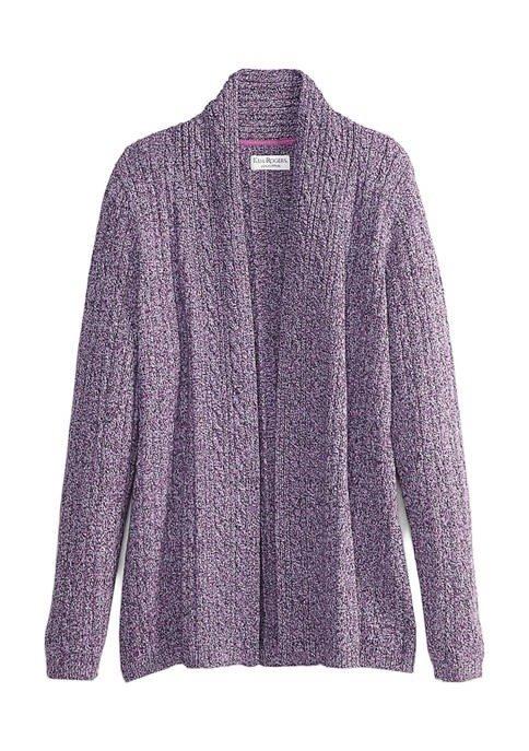 薰衣草紫针织开衫