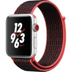 $284 (原价$409)Apple Watch Nike+ Series 3 42mm GPS + 蜂窝版智能手表