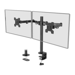 WALI Dual LCD Monitor Fully Adjustable Desk Mount Stand Fits 2 Screens up to 27 inch