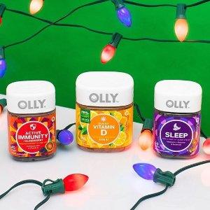 $19.99收儿童维生素OLLY 高颜值褪黑素 孕妇、宝宝维生素软糖 提高免疫改善健康