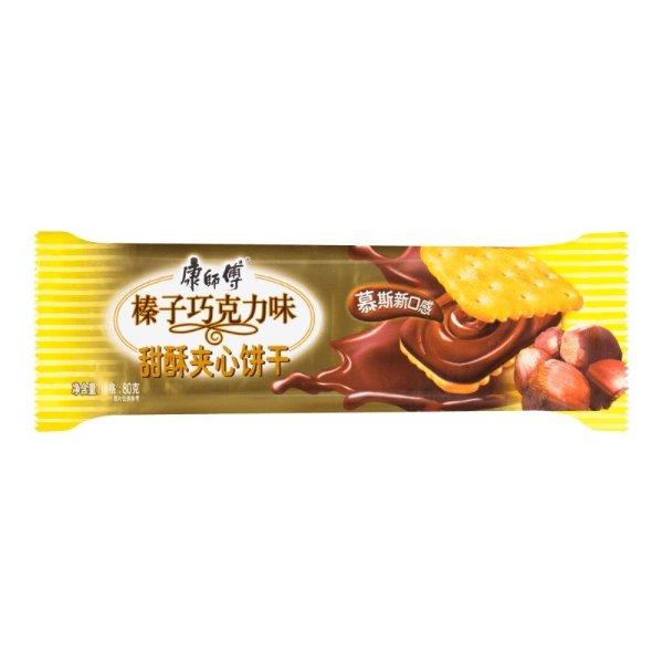 康师傅 甜酥夹心饼干 榛子巧克力味 80g