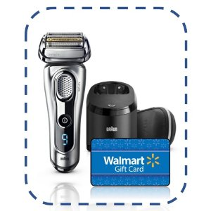 BraunFree $50 Gift Card with Braun Series 9 9290cc Men's Electric Foil Shaver, Wet and Dry Razor with Clean & Charge Station.