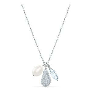 SwarovskiSo Cool Cluster Necklace, White, Rhodium plated by SWAROVSKI