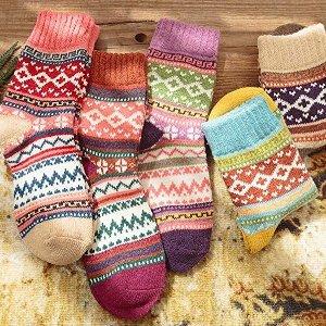 For $8.99 Womens 5 Pairs Vintage Socks @Amazon.com