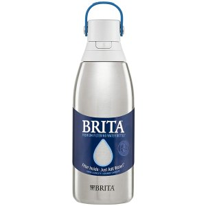 Brita 碧然德32oz大容量不锈钢保温过滤吸管水壶 带滤芯