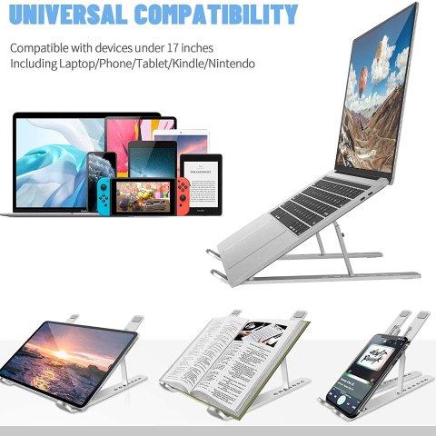 7.2折 白菜价仅€9.34闪购:Bamoer 可折叠支架 电脑平板手机皆可用 学习办公更舒适