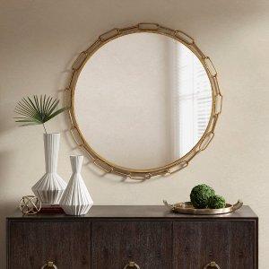 Designer Living Chainlink Decor Mirror