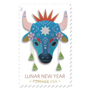 $11上新:USPS 美国邮政农历牛年纪念邮票小全张