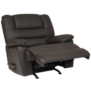 Deluxe Padded Leather Rocking Recliner Chair