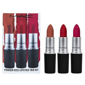 M.A.Cvalued $57ONE KISS IS NEVER ENOUGH LIPSTICK TRIO