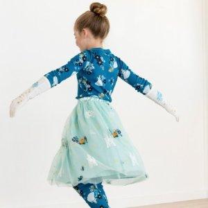 4折起+$100包邮Hanna Andersson 女童连衣裙、半裙半年度大促