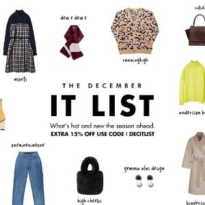 Last Day: Extra 15% OffDecember It List @W Concept