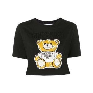 Moschinoteddy bear cropped T-shirt