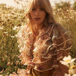 低至2.5折 €218收仙气上衣Zimmermann 澳洲仙女风美衣热卖 收刺绣上衣、碎花连衣裙