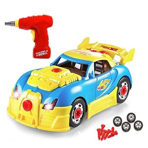 Take Apart Racing Car Toys - Build Your Own Toy Car with 30 Piece Constructions Set @ Amazon