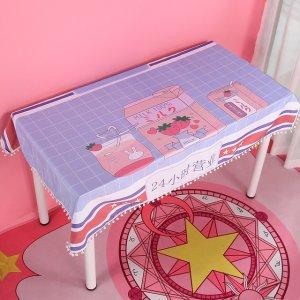 草莓牛奶桌布 100*70cm