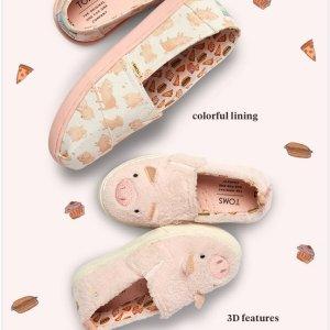$18.99起TOMS 猪年新款童鞋上市,促销区上新,妈咪来穿走大童款