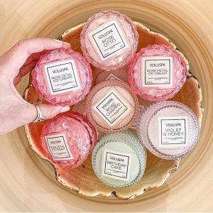 定价优势+免邮 $12起Voluspa 浪漫高颜值香氛热卖 收玫瑰马卡龙蜡烛套装