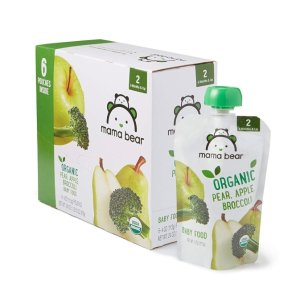 Extra $3 Off CouponMama Bear Baby Food Variety Pack, 4oz Pouches (Pack of 12)  @ Amazon
