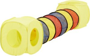 HDP Pop Open Collapsible Cube And Tunnel Play Set for Cats, Multi-Color - Chewy.com