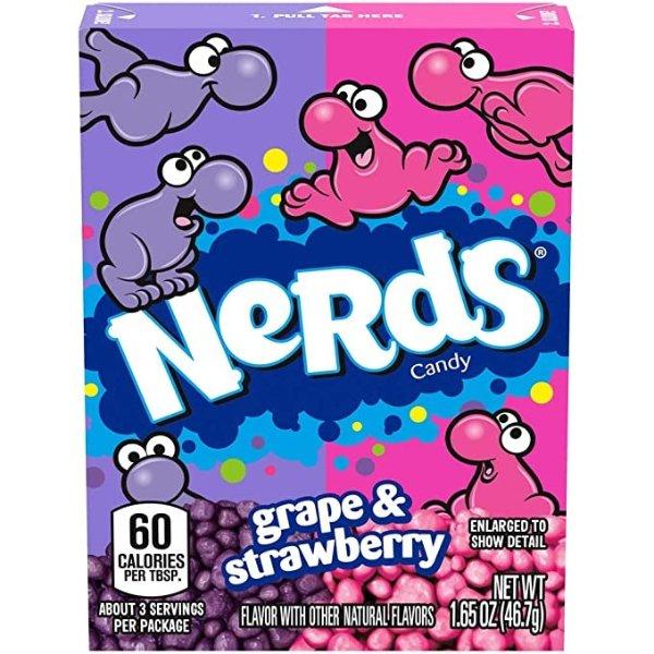 Nerds 葡萄和草莓糖果 1.65oz 18包