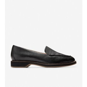 Cole HaanWomen's The Go-To Loafer in Black Grainy Leather | Cole Haan