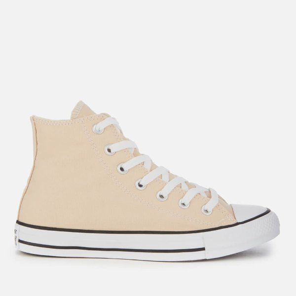 米色高帮鞋