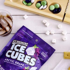 $4.99ICE BREAKERS Ice Cubes Sugar Free Gum, Arctic Grape, 100 Count