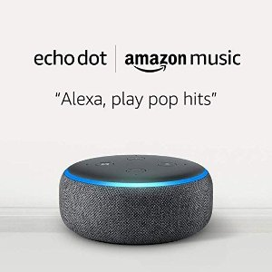 Amazon木炭黑 Echo Dot 3代智能音箱 + 1个月Amazon Music Unlimited