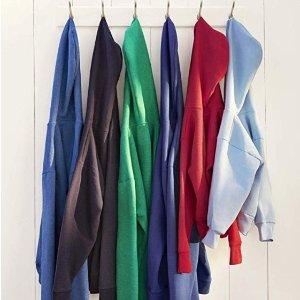 $10 Hanes Men's Pullover EcoSmart Fleece Hooded Sweatshirt