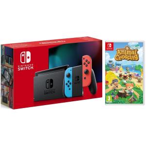 £现价294(原价£318)Nintendo Switch 红蓝机+动森实体版折上折